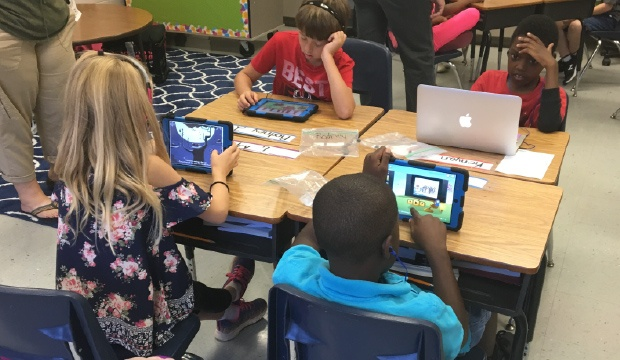 Students using eSpark at Piedmont Elementary