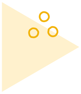 Yellow Triangle with Circle Doodles